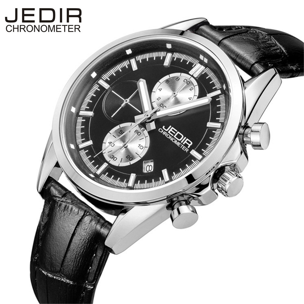 JEDIR Reloj Hombre Army Quartz Watch Men Brand Luxury Black Leather Mens Watches Fashion Casual Sport Male Clock Men Wristwatch new listing yazole men watch luxury brand watches quartz clock fashion leather belts watch cheap sports wristwatch relogio male