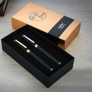 Image 2 - High End Winnende 598 Roller Ball Pen Met Geschenkdoos Zilver En Goud Clip 0.5Mm Teken Pennen De beste Cadeau Voor Business En Student
