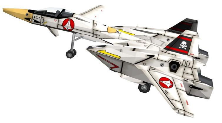3d paper model robotech macross series vf4 airplane in - Wallpapers robotech 3d ...