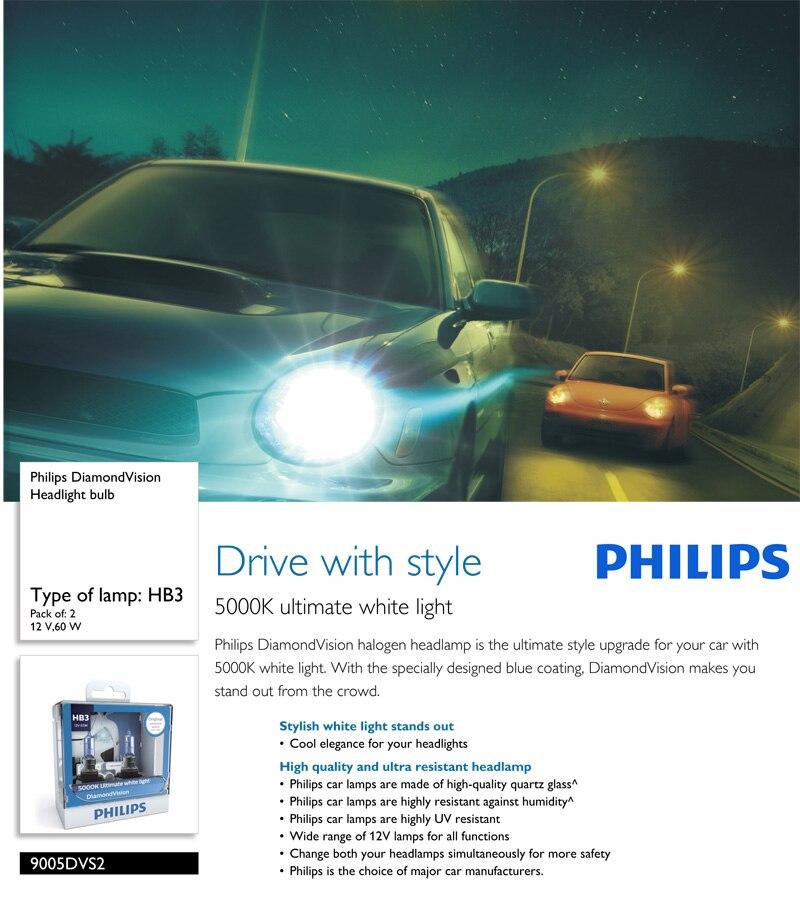 Philips farol para carro, farol de diamante