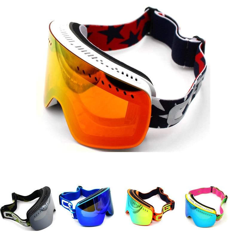 New Arrivals 5 StylesBrand Ski Goggles Big Lens UV400 Anti-Fog Ski Mask Skiing Men Women Snow Snowboard Goggles