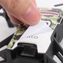 3 sztuk fajne naklejki pcv Cartoon dla DJI dron tello ciała naklejki na skórę kolorowe skóry RC części zamienne zdejmowana naklejka akcesoria