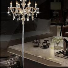 Модный современный торшер с кристаллами, гостиной, лампы Хрустальные, французские, современные, световые стойки, хрустальные