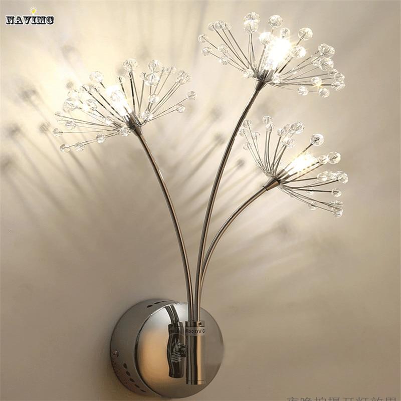 Modern LED Wall Lamps Wall Light Sconces Bedside Reading Light Dandelion Design Wall Decors for Bedroom Night Light стоимость