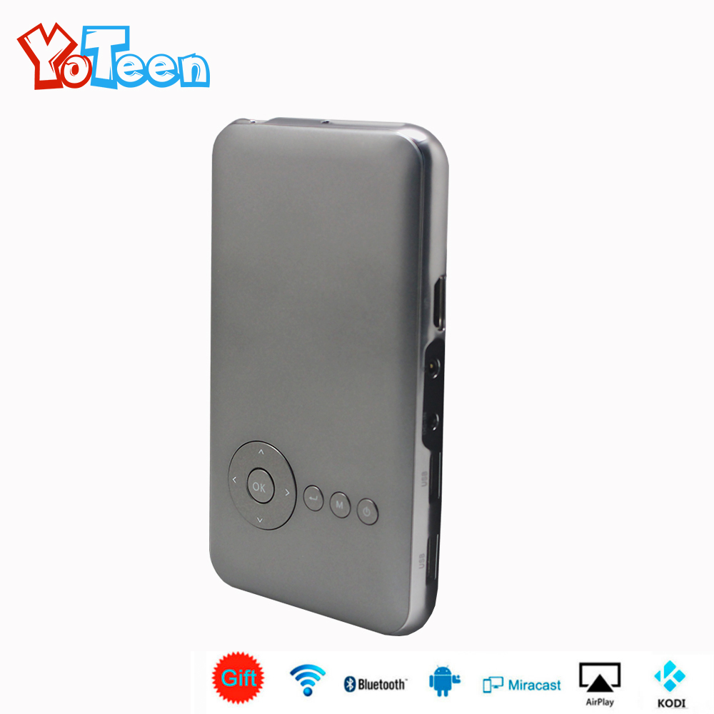 8G 16G 32G YOTEEN S6 Plus Mini Pocket Projector for Nintendo Switch Games DLP WiFi Portable Handheld Smart Android HD Projector