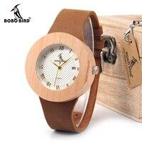 Bobobird New 2015 Vintage Round Wooden Watches Ladies Luxury Brand Design Quartz Watches With Calendar In