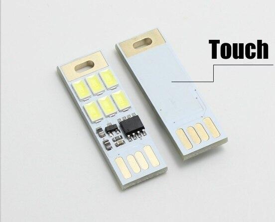 Portable Hot Sale Mini White USB Power 5V LED Bulb Night Light Tube Pocket Card Lamp Spotlight