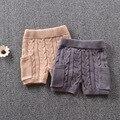 Baby Wool Pants Boys Girls PP Pants Fall Winter Wild  Hook Pattern Pockets Knit Leggings Newborn Sweat Pants Linen Wool Shorts
