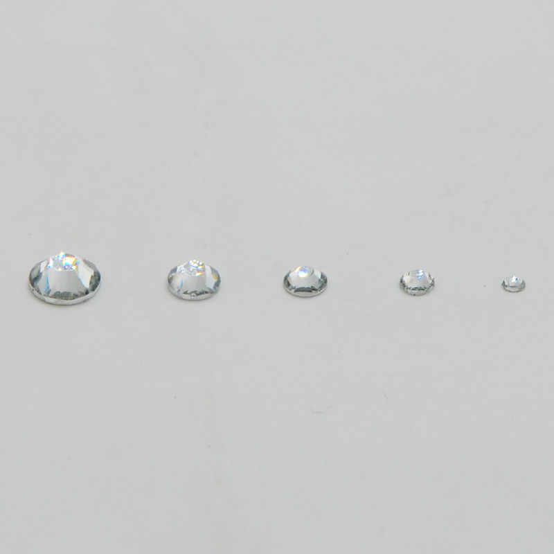 HOT 100pcs lot Crystal Clear Color DIY Apparel Rhinestone Flatback Non Hot  Fix mix Rhinestones f4b0ea72675a