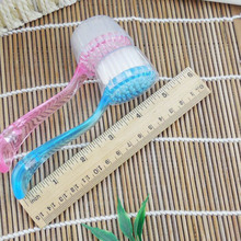 Soft Bristle Facial Brush Scrub Exfoliating Face Skin Care Cleaning Wash Brushes Pink/Blue/White Cute Style For Women  HB88