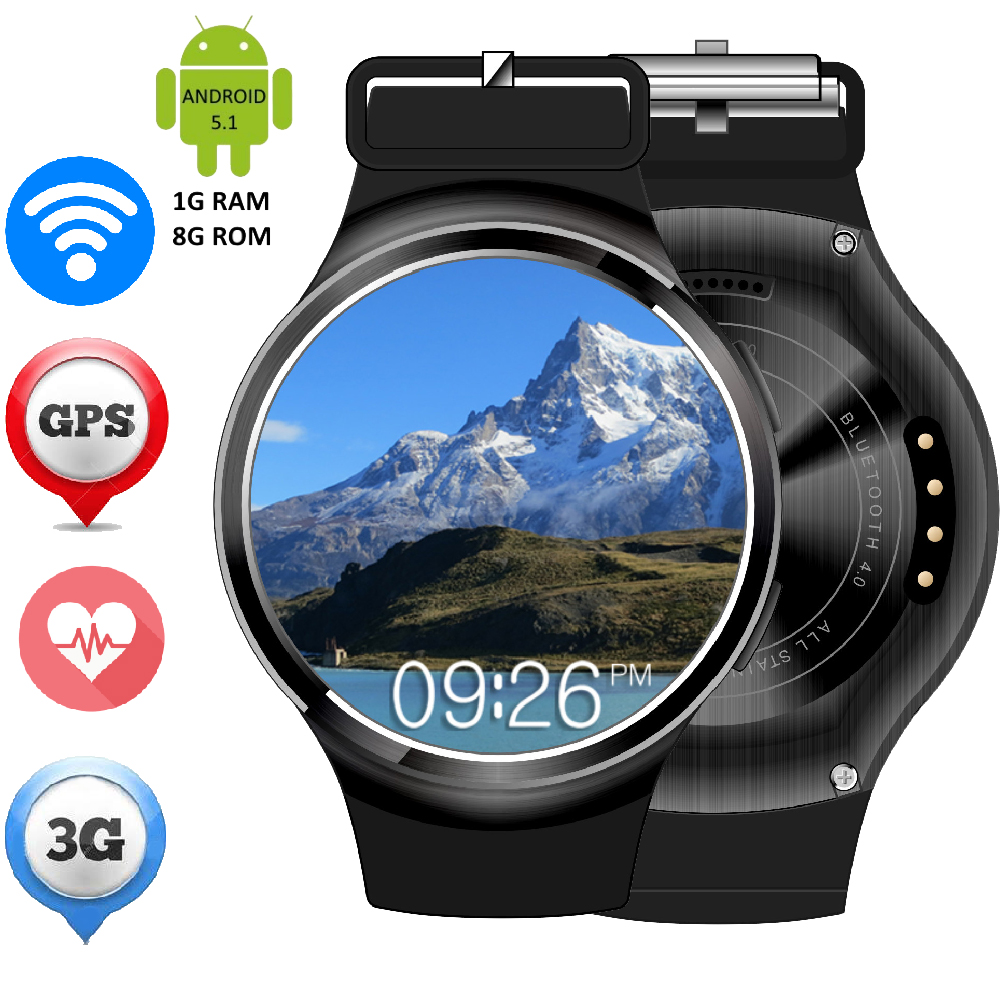 GPS 3G Smart Watch Heart Rate Fitness Tracker Android 5 1 ZW24 Clock WiFi Smartwatch font