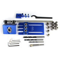Precision Dowel Jigs 3 In 1 Drilling Locator Dowelling Jig Kit With 3 Metric Dowel Hole