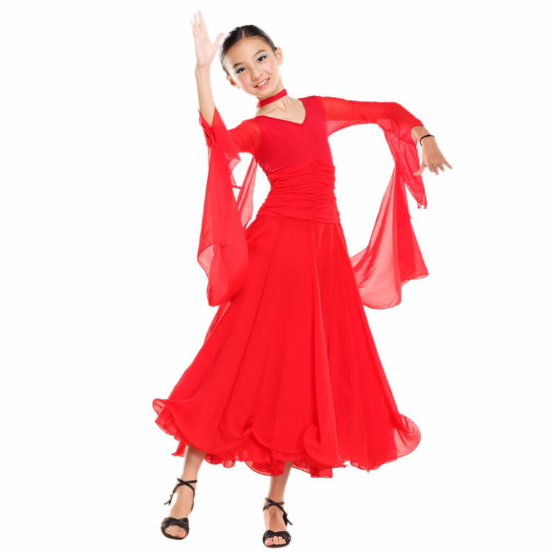 Aliexpress.com : Buy girls Modern dance one piece dress child ...