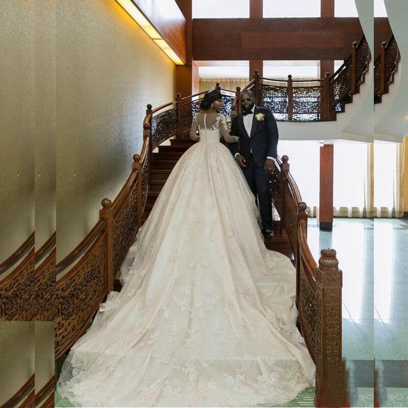 2017 luxus Afrikanische Dame Kathedrale Ballkleid Brautkleider ...
