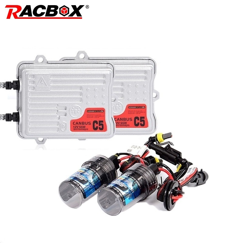 RACBOX 12V AC 55W Error Free Canbus or Fast Bright Fast Start HID Xenon Kit H1