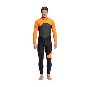 Image 5 - Męskie kombinezon na całe ciało, 3mm męskie neoprenowy długi rękaw kombinezon nurkowy idealny na pływanie/nurkowanie z akwalungiem/Snorkeling/Surfing Orange