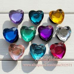Очаровательный Deraction! 100 шт./лот Мода сердце кристалл 2 ПВХ обуви подвески как подарок на день рождения