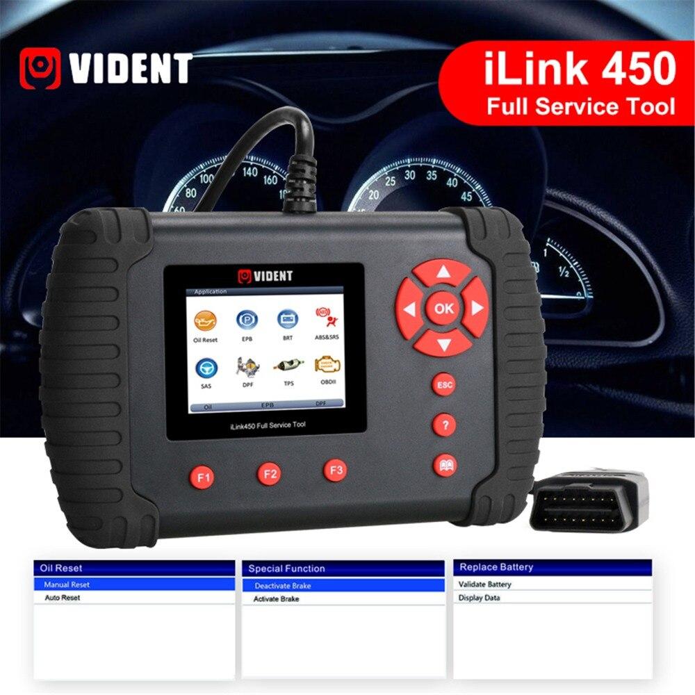 iLink450 12V Car OBD Full Service Oil EPB ABS SAS Airbag Reset Throttle Alignment DPF Regeneration