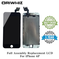 10 PCS/LOT ORIWHIZ Screen Replacement LCD For iPhone 6 Plus with Front Camera + Ear Speaker Not for iPhone 5S LCD