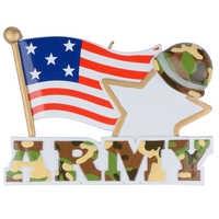 Estatuillas navideñas personalizadas colgantes de resina militar del ejército americano para regalos de Año Nuevo o decoración del hogar