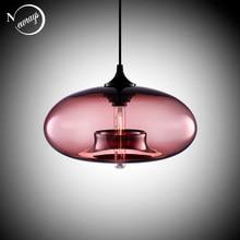 Nordic moderno pendurado loft 7 cor lustre de vidro pingente lâmpada decoração industrial luzes luminárias e27/e26 para cozinha restaurante