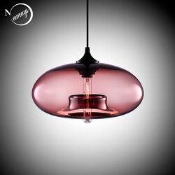 Nordic Moderne opknoping loft 7 Kleur Glas lustre Hanglamp industriële decor Verlichting Armaturen E27/E26 voor Keuken Restaurant