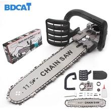 BDCAT Upgrade Elektrische Säge Teile 11,5 Zoll M10 Kettensäge Halterung Geändert 100 125 150 Winkel Mühle In Kettensäge