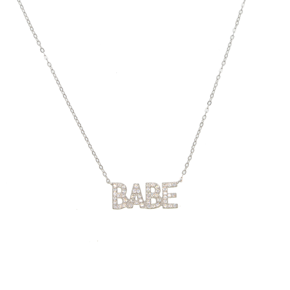 BABY Necklace Delicate Jewelry 100% 925 Sterling Silver Micro Pave Cz Alphabet Lover Valentine's Gift Necklaces