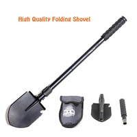 High Quality 140 110 1 8mm Multi Functional Military Folding Shovel Survival Spade Emergency Garden Camping