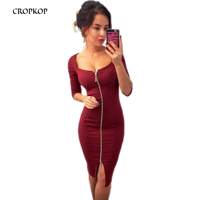 <font><b>Sexy</b></font> <font><b>Club</b></font> Low Chest Velvet Bodycon Dress Women <font><b>2018</b></font> Autumn Winter Zipper Black Red Sheath <font><b>Party</b></font> Dresses Lady Office Dress Female image