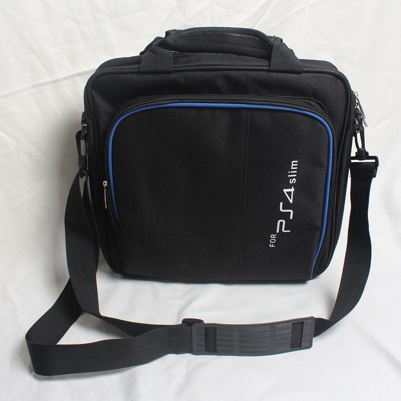 Protective Cover Case Game System Bag Shoulder Bag Carry Travel Case Black For Sony Playstation 4 PS4 Slim