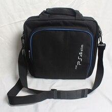 جراب واقٍ لعبة نظام حقيبة حقيبة كتف حمل السفر حالة الأسود لسوني بلاي ستيشن 4 PS4 ضئيلة