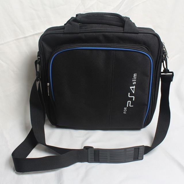 Funda protectora funda de sistema de juego bolso de hombro bolso de transporte Estuche De Viaje negro para Sony Playstation 4 PS4 Slim