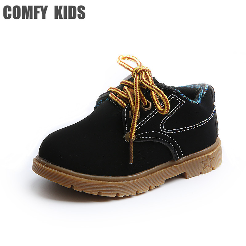 Spring autumn 2018 New child boys sneakers shoes soft bottom baby toddler shoes size 21-25 Leather comfy kids boys sneakers shoe