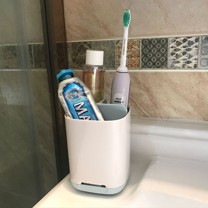 Zhangji Concise Toothbrush Storage Holder Bathroom Toothbrush Organizer Box  Toothpaste Shelf Makeup Shelves Shower Caddy In Bathroom Shelves From Home  ...