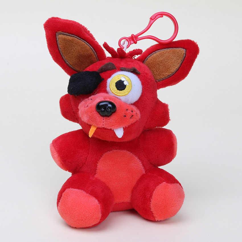 14cm FNAF juguetes de peluche cinco noches en Freddy's foxy Freddy Fazbear Bear Bonnie chica llavero colgante de felpa muñeca regalo de Navidad