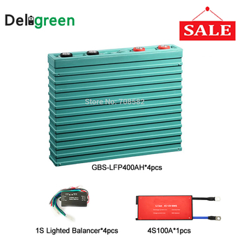 GBS 12V 400ah Lifepo4 battery Cells With Passive Active bms 4S 100A lifepo4 bms pcm for promotion