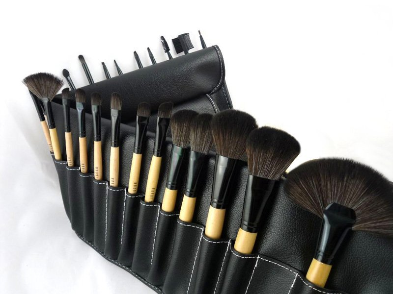 best professional makeup brush set. whole professional 24 pcs bobi makeup brush cosmetic set kit brushes with leather top 5 best