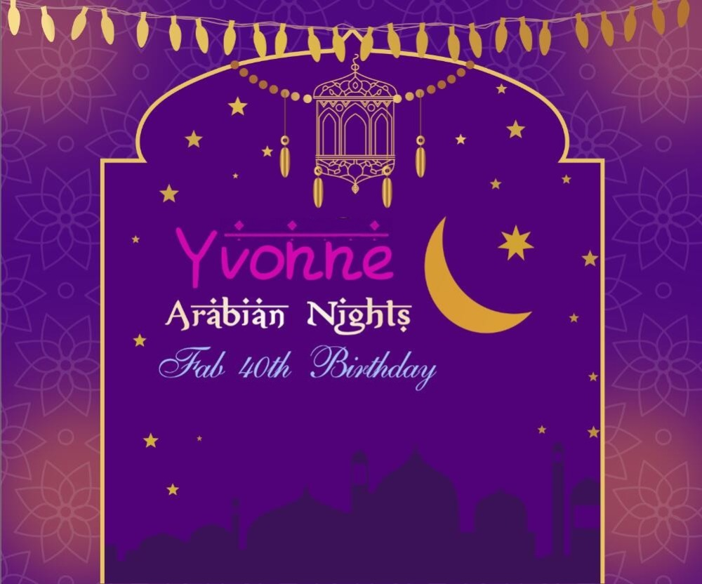 custom printable arabian nights party backdrops polyester