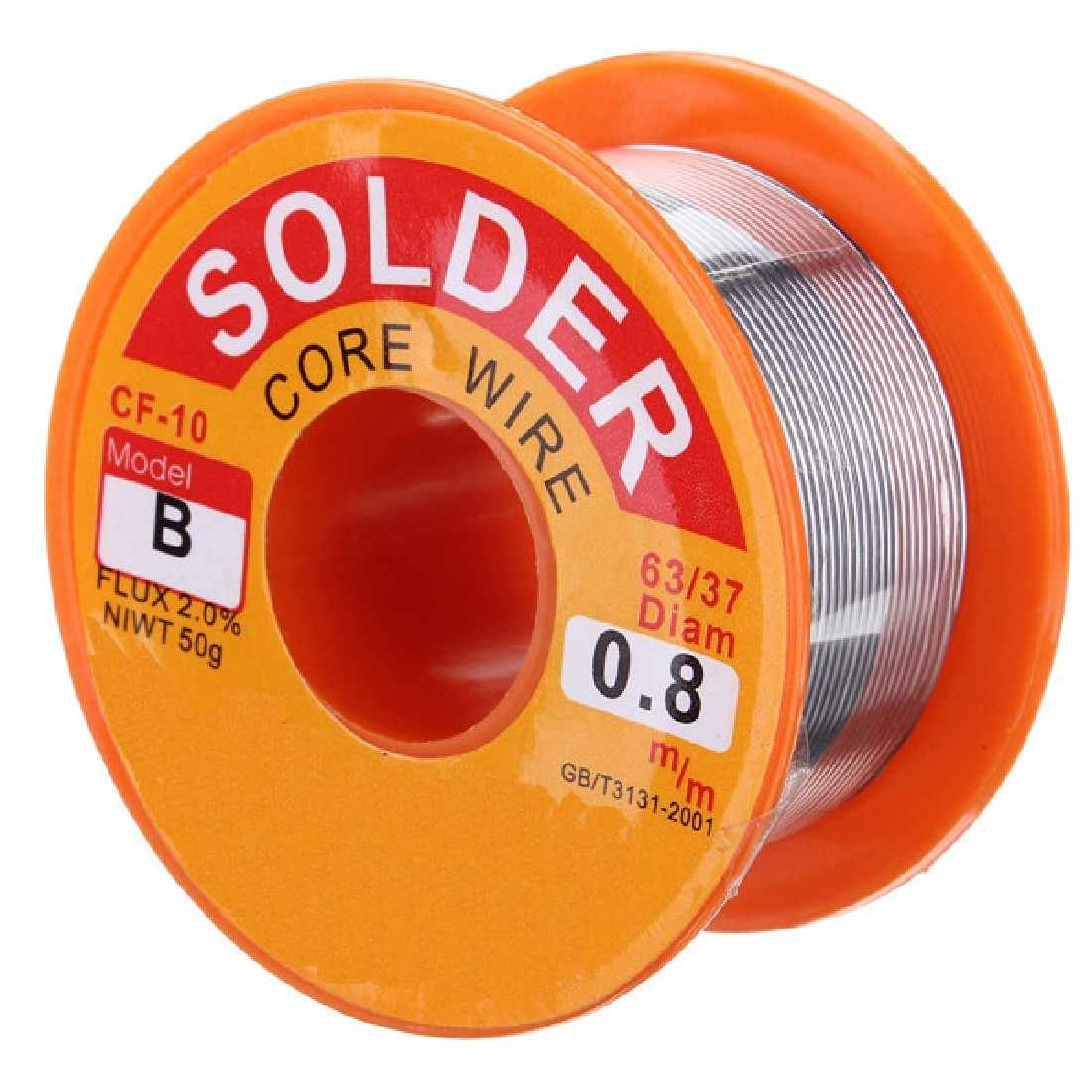 Useful No-clean Tin 0.8mm Tin/Lead 0.8mm Alloy Rosin Roll Flux Solder Wire Reel Welding Line Solder Wire Clean