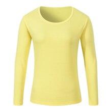 Manga larga femenina ropa personalizada camiseta clase del partido algodón  cuello redondo Camisetas Publicitarias trajes printi 2dc09f3bd5e11