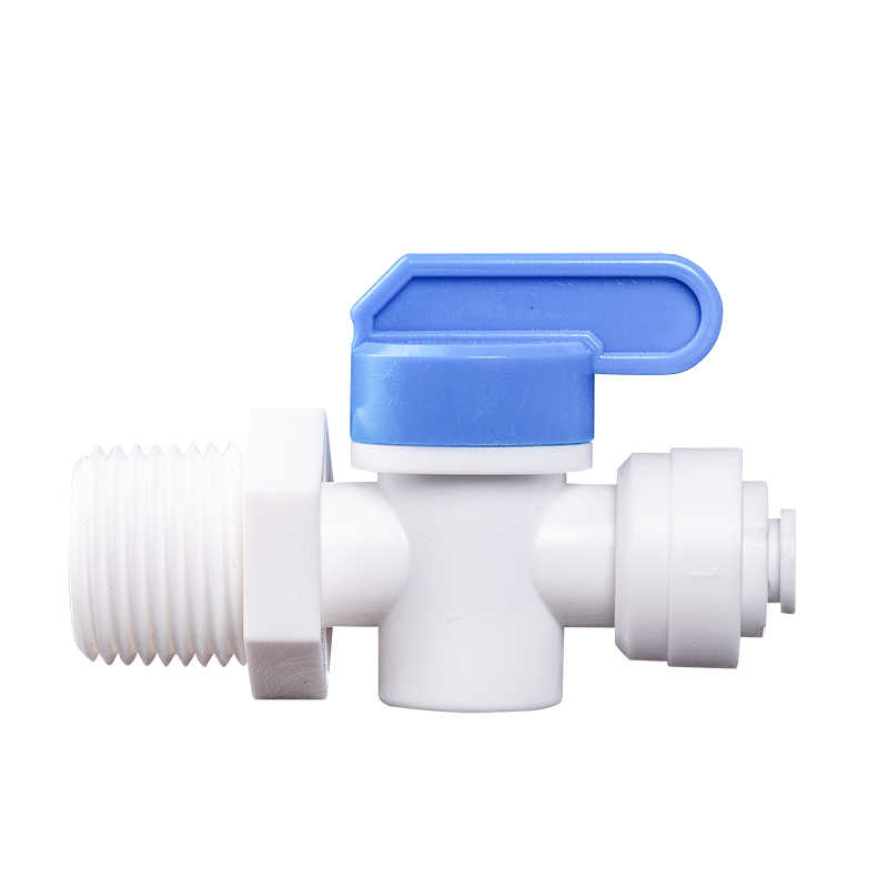 "1/2"" Male - 1/4"" OD Tube PE Pipe Fitting Backwash Controlled Ball Valve Aquarium RO Water Filter Reverse Osmosis System"