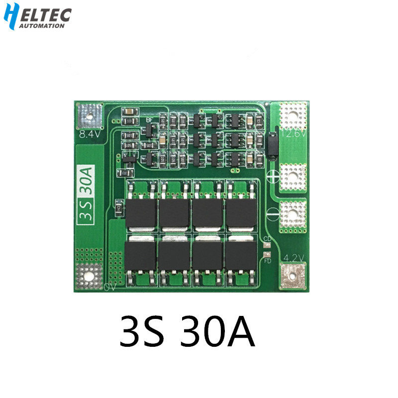 3S 30A BMS Board  11.1V 12.6V 18650 Lithium Battery Protection Board With Equalization Drive Drill 30A Current