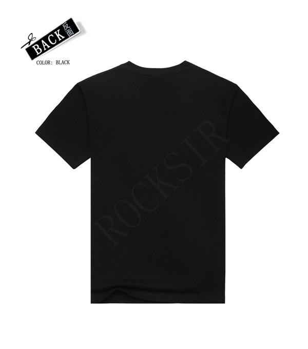 2016 Ny stil Hot sälja 100% bomull O-Neck AC / DC svart kortärmad - Herrkläder - Foto 2
