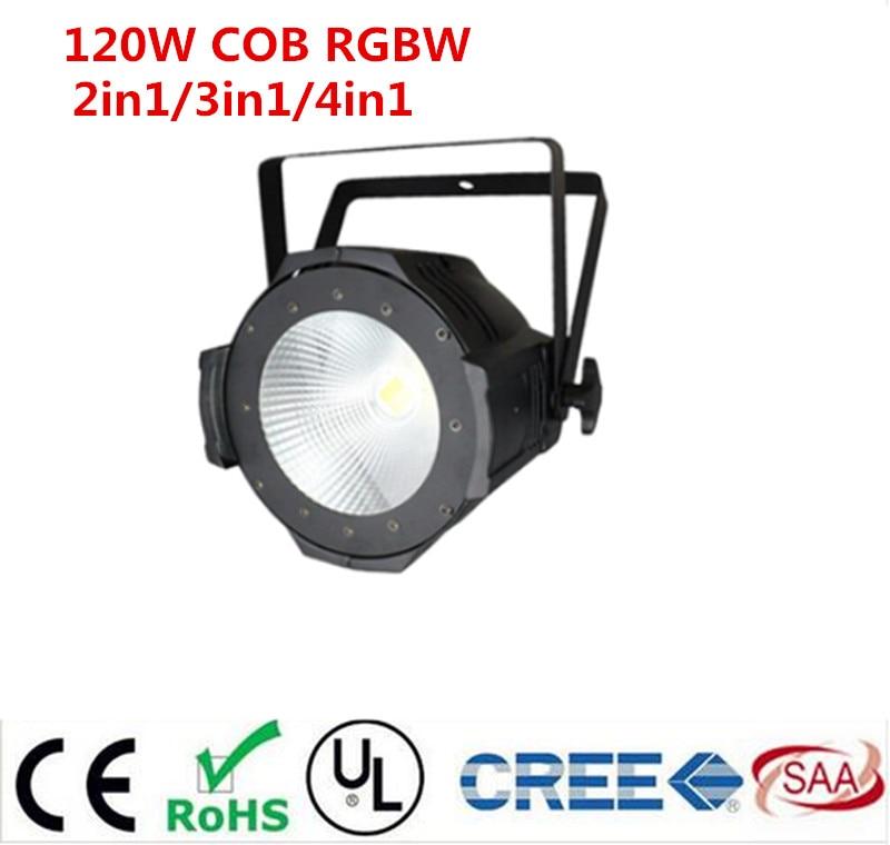 led par 120W COB RGBW 4in1/RGB 3in1/ Warm White Cold white LED Par Can Par64 led spotlight dj light Dmx controll 2015 new design professional 100w cob led spotlight led par light for sale