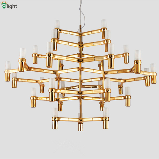 GroB Nemo Crown Major Led Chrome Pendant Chandelier Nordic Minimalism Post  Modern Gold Candle Frosted Glass G9
