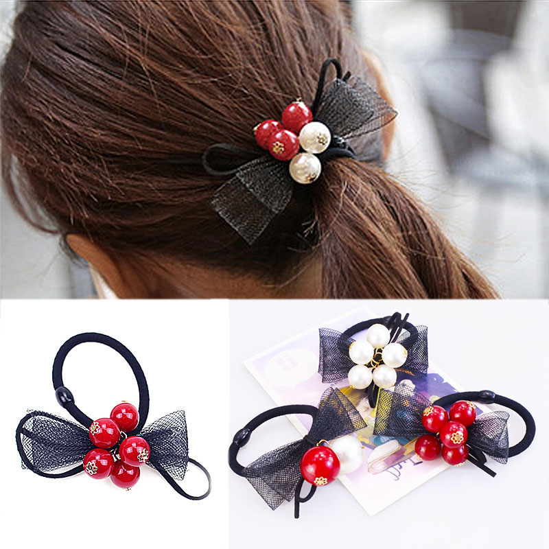 Women's Hair Accessories Responsible M Mism Fine Pearl Flower Bow Elastic Hair Bands Gum For Women Girls Hair Accessories Rubber Band Scrunchy Bezel