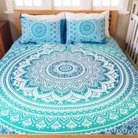 Bohemian Bed Cover 3d boho Mandala printing laken Met Kussensloop Indian Home Decor Sprei tapestry Groothandel Hot