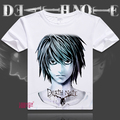 Death Note t-shirt Anime Yagami luz Cosplay camisa de manga curta T L Lawliet respirável camiseta Casual das mulheres dos homens t-shirt
