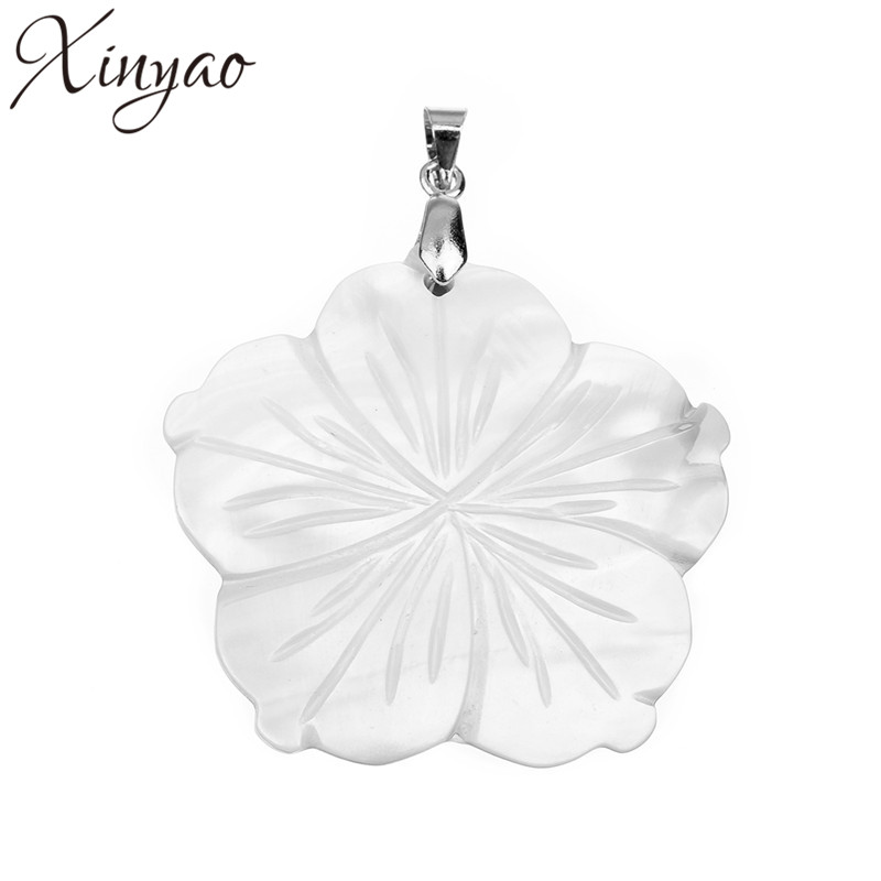 1pc DIY Freshwater Small White Flower Natural Shell Pendants For Jewelry Making Charms Necklace Pendants  F1153